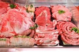 Particolare del banco della carne